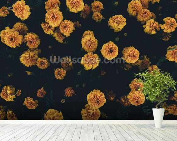 Dark Botanics Floral Wallpaper wall mural room setting