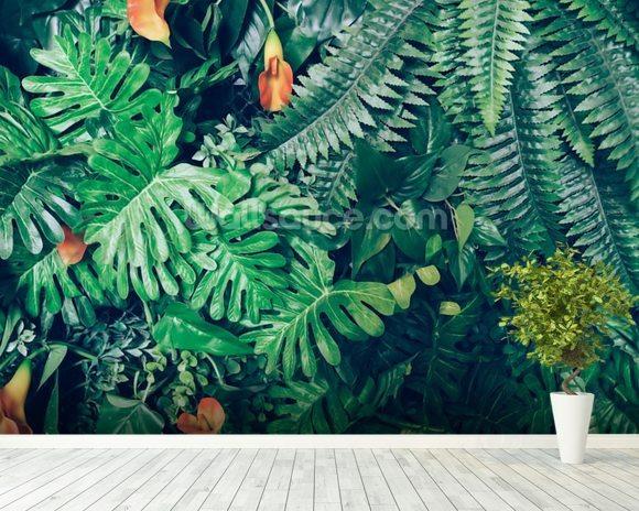 Exotic Jungle Wallpaper Wall Mural Room Setting