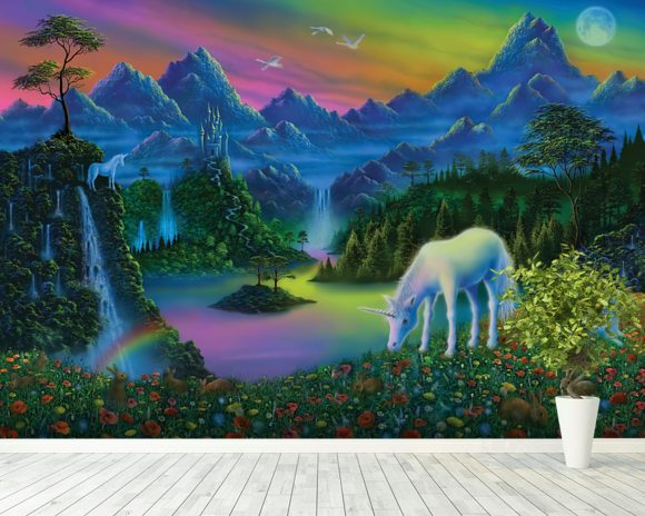 Land of the Unicorn Wall Mural Land of the Unicorn Wallpaper