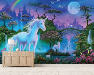 Unicorn Bridge Wallpaper Wall Murals