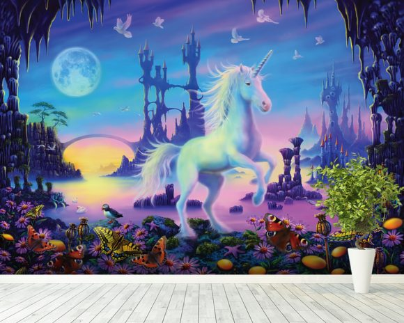 Unicorn Cavern Wall Mural Unicorn Cavern Wallpaper Wallsauce Germany