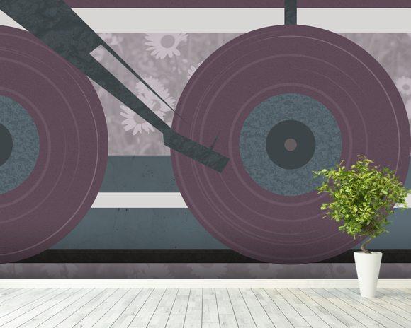 purple disc jockey wall mural purple disc jockey wallpaper