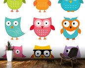 Nursery Owls wall mural kitchen preview