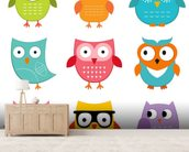 Nursery Owls wall mural living room preview