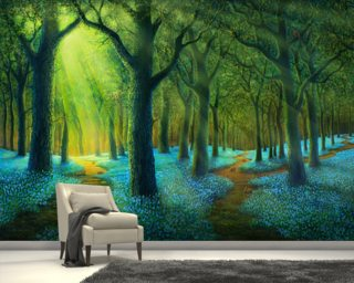 Bluebell Wood Wallpaper Wall Murals