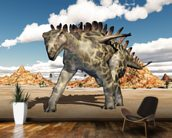 Dinosaur Huayangosaurus wall mural kitchen preview