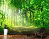 Forest Path in Sunshine wall mural kitchen preview