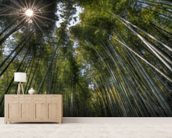 Arashiama Bamboo Forest wallpaper mural living room preview