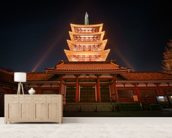 Asakusa Temple at Night, Tokyo wall mural living room preview