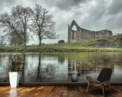 Bolton Abbey Reflections Good, Yorkshire mural wallpaper kitchen preview