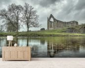 Bolton Abbey Reflections Good, Yorkshire mural wallpaper living room preview