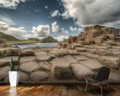 Cloudy Day on Giant's Causeway wallpaper mural kitchen preview