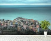 Corniglia on the Cliffs wall mural in-room view