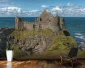 Dunluce Castle on the Coastal Causeway, County Antrim wallpaper mural kitchen preview