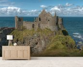 Dunluce Castle on the Coastal Causeway, County Antrim wallpaper mural living room preview