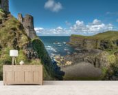 Dunluce Castle, Northern Ireland mural wallpaper living room preview
