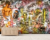 Graffiti Montage mural wallpaper living room preview