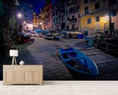 Riomaggiore Fishing Boats wall mural living room preview