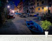 Riomaggiore Fishing Boats wall mural in-room view