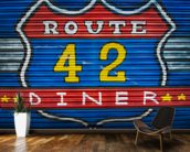 Route 42 wallpaper mural kitchen preview