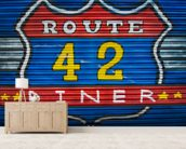Route 42 wallpaper mural living room preview