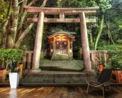 Shrine at Maruyama Park, Kyoto mural wallpaper kitchen preview
