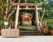 Shrine at Maruyama Park, Kyoto mural wallpaper living room preview