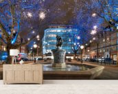 Sloane Square at Christmas wall mural living room preview