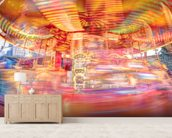 Speeding Southbank Carousel wallpaper mural living room preview
