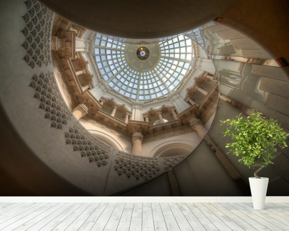 The Tate Britain Staircase wall mural room setting