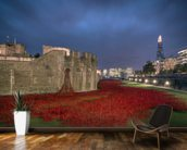 The Tower of London Poppies wallpaper mural kitchen preview