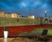 Tower of London Sea of Poppies wall mural kitchen preview