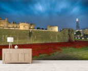 Tower of London Sea of Poppies wall mural living room preview