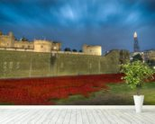Tower of London Sea of Poppies wall mural in-room view