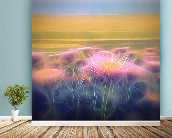 Light And Day Seaside Daisy wall mural room setting