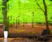 Light Beech Forest mural wallpaper kitchen preview