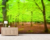 Light Beech Forest mural wallpaper living room preview