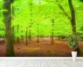 Light Beech Forest mural wallpaper in-room view