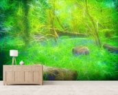 Light Bluebell Glade wall mural living room preview