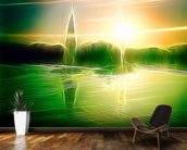 Light Calm Drift wallpaper mural kitchen preview