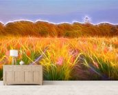 Light Confetti Fields wallpaper mural living room preview