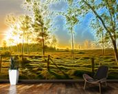 Light Dawn Break wallpaper mural kitchen preview