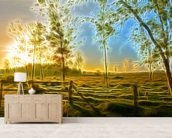 Light Dawn Break wallpaper mural living room preview