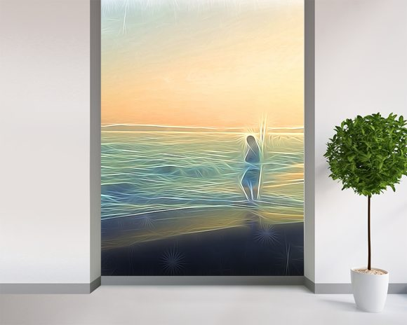 Light Evoke wall mural room setting