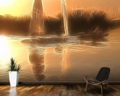 Light Float Boats wall mural kitchen preview