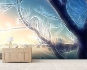Light Frozen Morning wallpaper mural living room preview