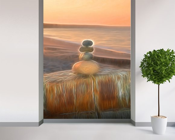 Light Gifting Stump wall mural room setting