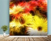 Light Happy Daisies mural wallpaper in-room view