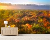 Light Misty Heath wall mural living room preview