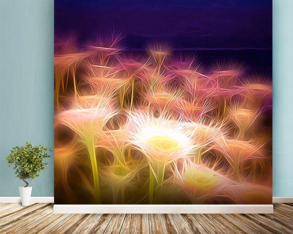 Light seaside daisy wall mural light seaside daisy for Daisy fuentes wall mural